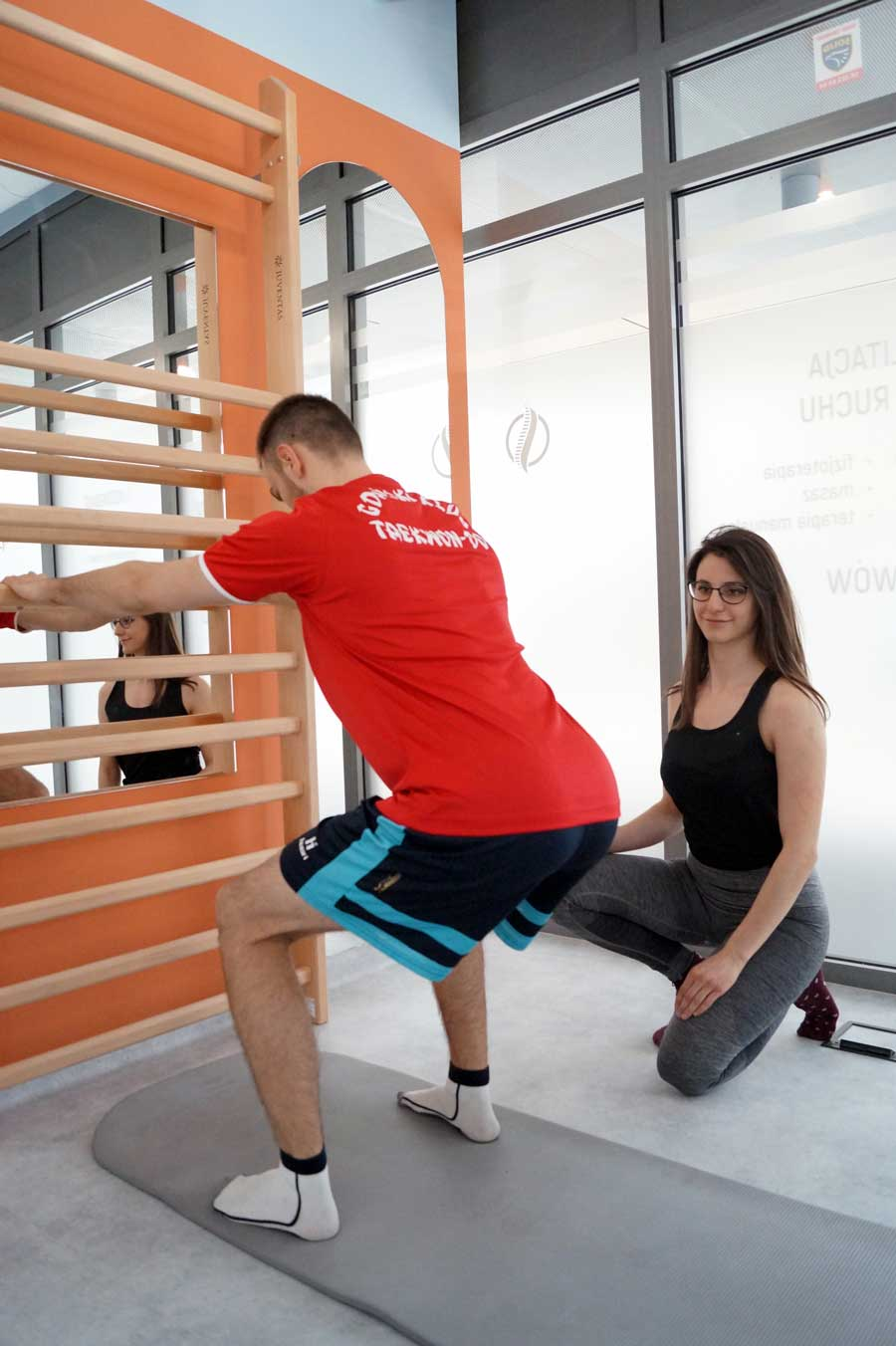 trening przeprowadzany w centrum spine